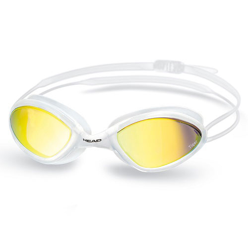 Head Swimming Tiger Race LSR+ white/gold
